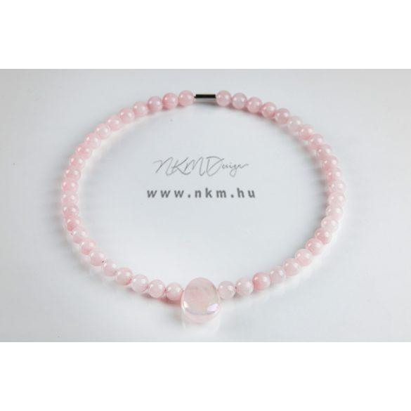 Haniel nyaklánc - rózsakvarc