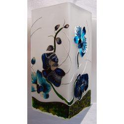 Kék orchidea lámpa