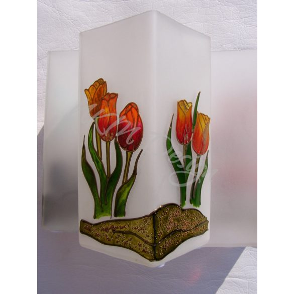 Narancs tulipánok lámpa